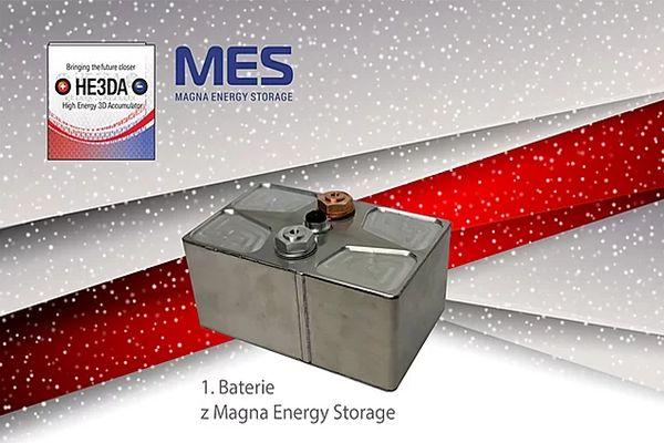 23.ledna 2020: Oficiální premiéra první komerčně vyráběné baterie HE3DA