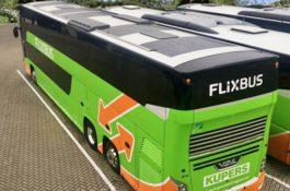 FlixBus testuje využití solární energie na střeše svých autobusů