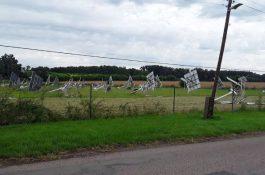 Bouřka vobci na Brněnsku silně poškodila solární elektrárnu na trackerech