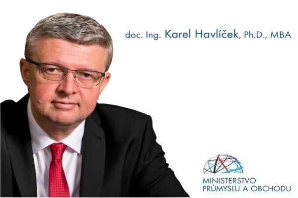 Ministr Havlíček: Rozvoj zelené elektromobility, akumulátorů vkombinaci sfotovoltaickým Carporty budeme dále podporovat