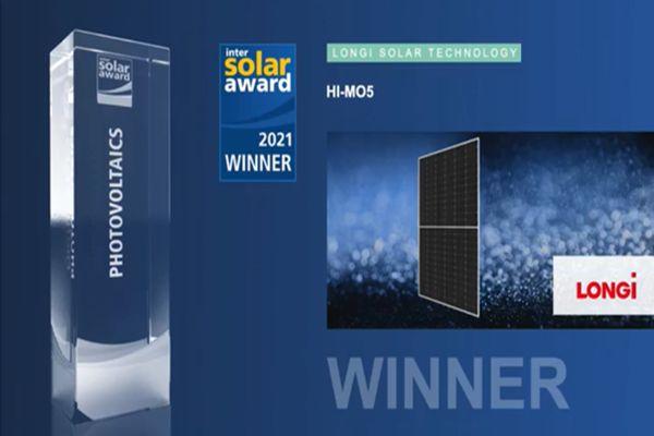 Intersolar (2.): LONGi získala prestižní ocenění za vysoce výkonný modul řady Hi-MO 5