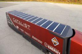 Netradiční využití solárních panelů na střechách mrazírenských vozů