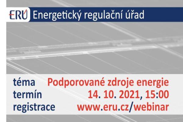 Pozvánka: Webinář ERÚ na téma Podporované zdroje energie